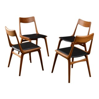 Danish Modern Teak Boomerang Dining Chairs by Slagelse - Set of 4 For Sale