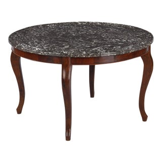1900s Louis Philippe Style Marble-Top Coffee Table
