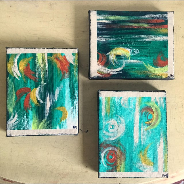 """Imbue"" No. 1, 2 & 3 Modern Series Paintings - Image 2 of 7"