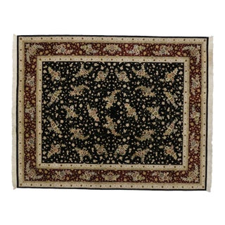 Vintage Chinese Persian Style Wool & Silk Rug - 08'00 X 09'11 For Sale