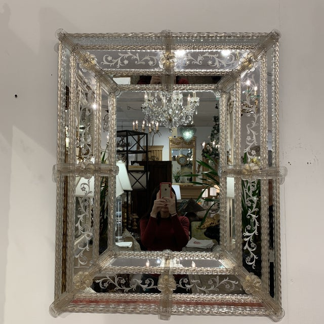 Vintage Murano Mirror For Sale - Image 12 of 13