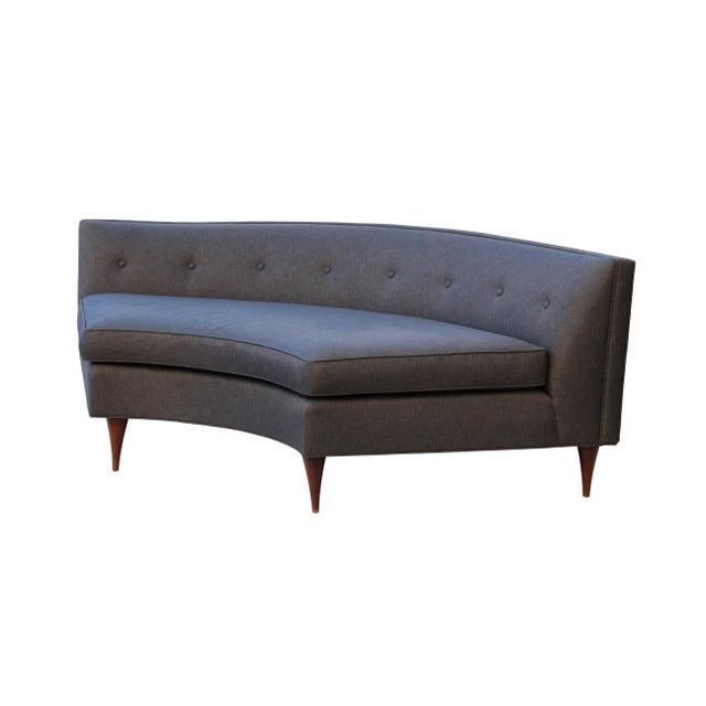 Tufted Mid-Century Settee, Banquette, or Loveseat For Sale - Image 10 of 10