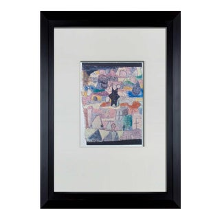 """Paul Klee Lithograph """"Among Black Star"""" Limited Ed. W/Frame Included For Sale"""