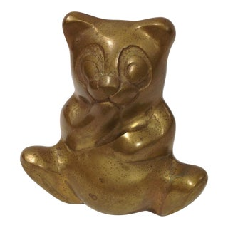 Vintage Brass Teddy Bear