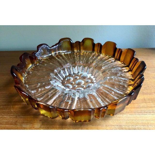 Orange Mid Century Scandinavian Art Glass Centerpiece Server For Sale - Image 8 of 8