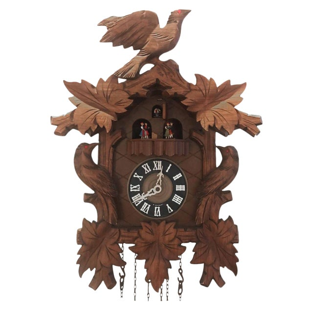 Vintage German Cuckcoo Wall Clock For Sale
