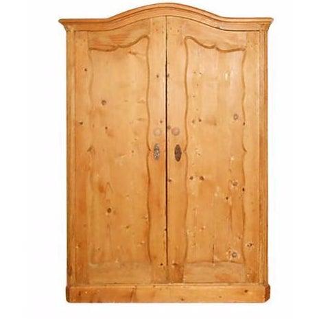 Double-Door Swedish Pine Armoire - Image 1 of 4