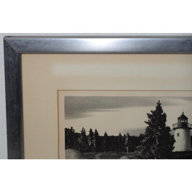 """Stow Wengenroth """"Inlet Light"""" Limited Edition Pencil Signed Lithograph C.1937 For Sale - Image 4 of 8"""