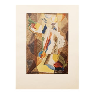 "1947 André Masson, Original Period ""The Girl at the Window"" Abstract Lithograph For Sale"