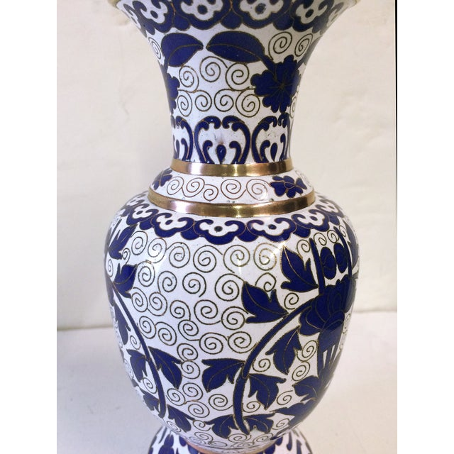 Hellenic Decor Inspired Cloisonné Vase - Image 2 of 4