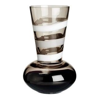 Carlo Moretti Troncosfera Vase in White, Grey, and Black For Sale