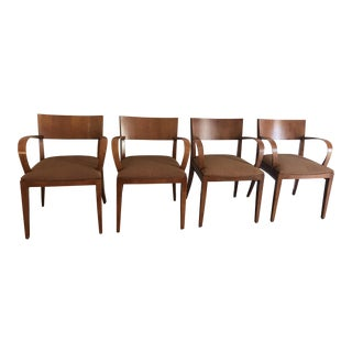 Knoll Crinion Cherrywood Ribbon-Band Arm Side Chairs - Set of 4