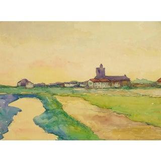 Raymond Deschamps, Provence Landscape Painting For Sale