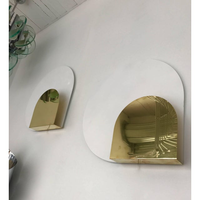 Mid-Century Modern Pair of Sconces by Pia Guidetti Crippa for Lumi, Italy, 1980s For Sale - Image 3 of 6