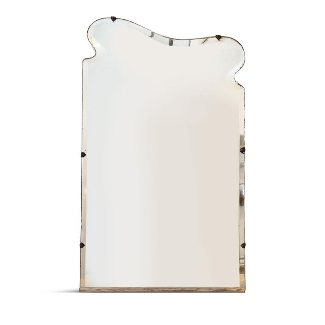 Asymmetrically-Shaped Art Nouveau Mirror For Sale - Image 10 of 10