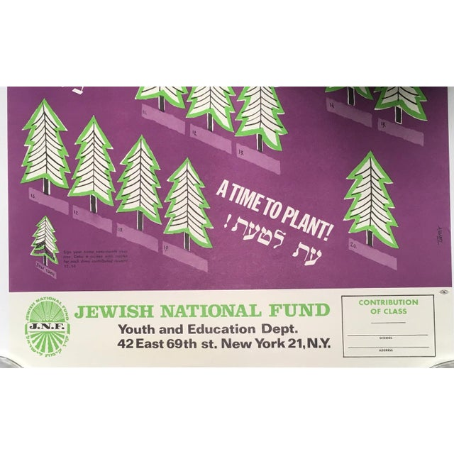 Up for sale is this charming poster produced by the Jewish National Fund to promote the support of the nation of Israel...