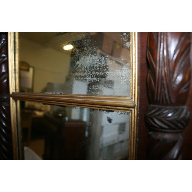 Antique Mahogany Mirror - Image 6 of 6