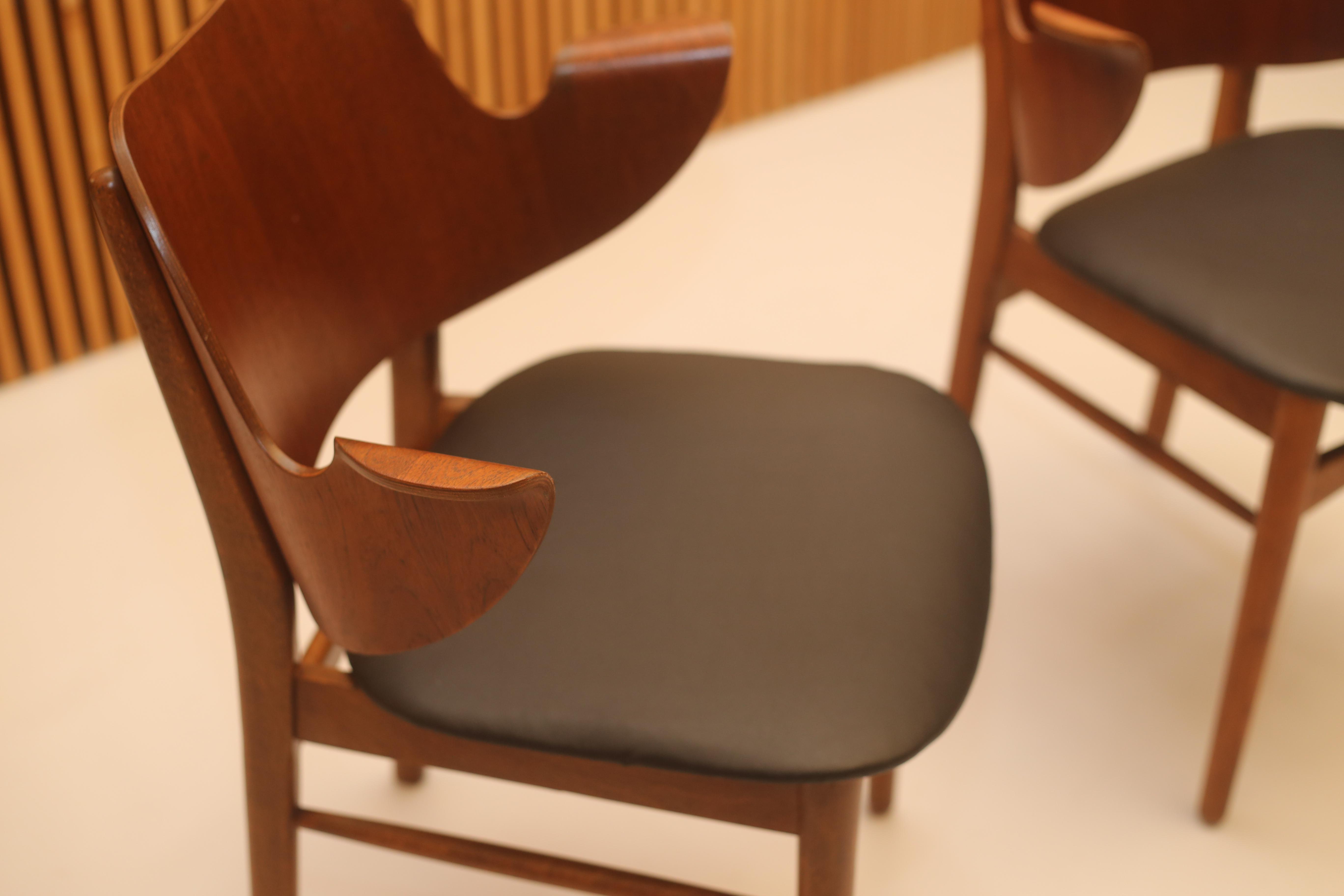 Hans Olsen Style Danish Modern Teak Dining Chairs   Set Of 4   Image 8 Of