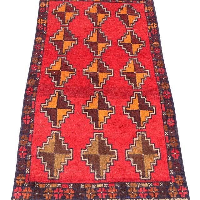 "Baluchi Hand Made Persian Rug - 2'6""x4'2"" - Image 1 of 7"