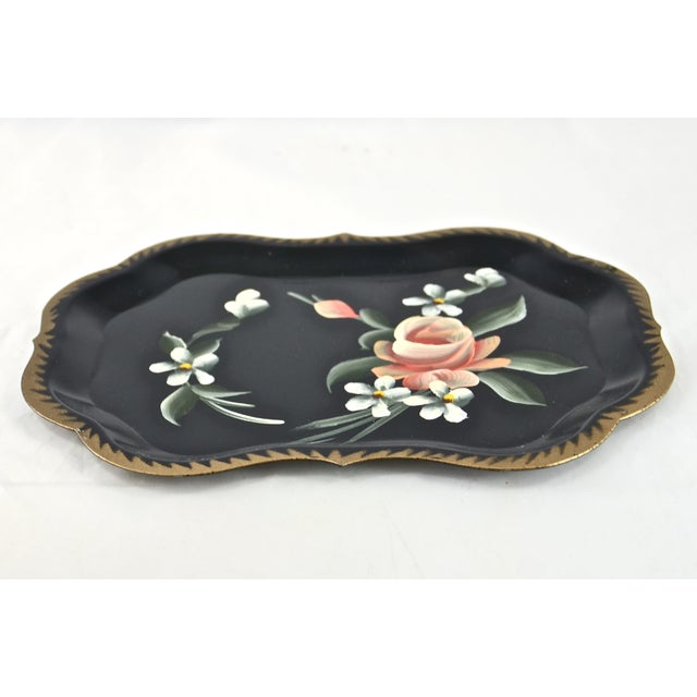 1960s Hand-Painted Tole Trays - Set of 6 For Sale - Image 5 of 5