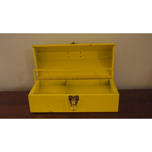 Modern Yellow Metal Toolbox For Sale - Image 3 of 6