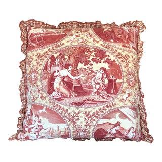Scalamandre Medeci Cupido Angel Toile Designer Throw Pillow For Sale