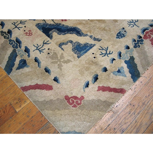 """Chinese Antique Chinese Peking Rug 4'2"""" X 6'10"""" For Sale - Image 3 of 11"""