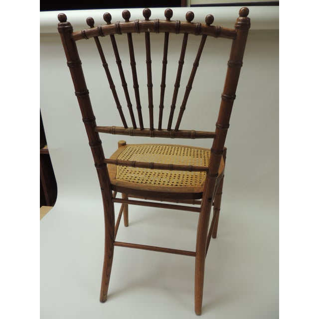 Wood 19th Century English Bamboo and Rattan Ballroom Chair For Sale - Image 7 of 8