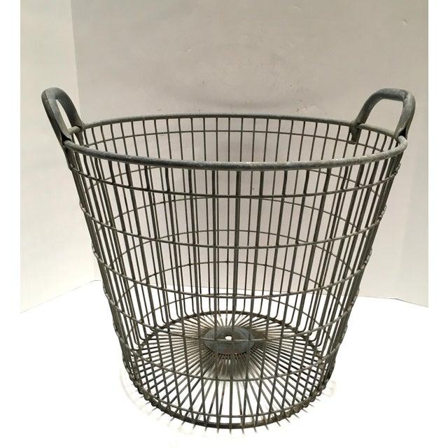 Vintage Belgian Metal Potato Basket - Image 2 of 6