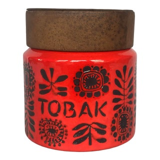 1960s Modern Danish Pottery Kitchen Canister For Sale
