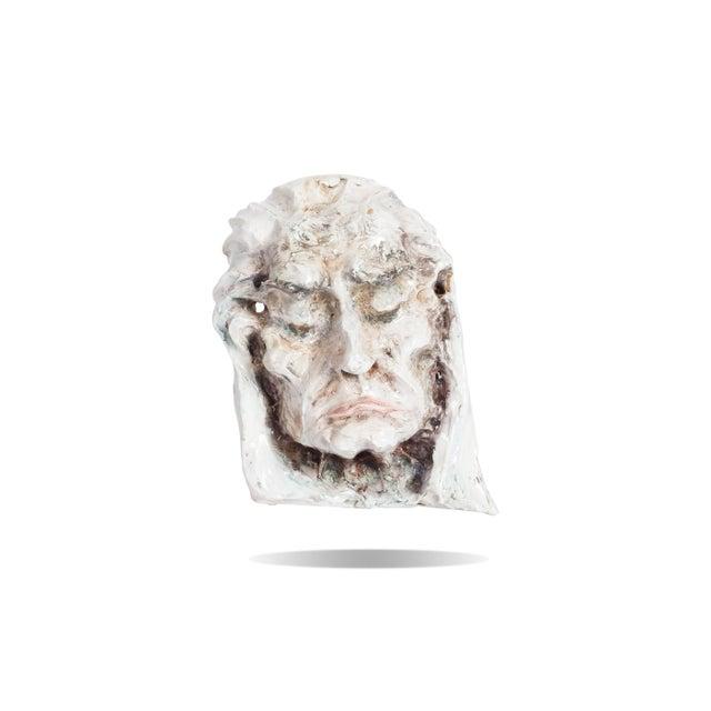 Set of Four Ceramic Masks, Fontana, Italy For Sale - Image 4 of 8