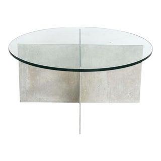 Paul Mayen for Habitat Minimalist Aluminium Coffee Table For Sale