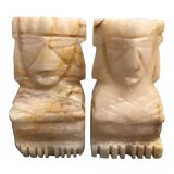 Image of Vintage Handcrafted Marble Bookends - a Pair For Sale