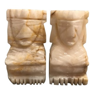 Vintage Handcrafted Marble Bookends - a Pair For Sale