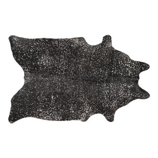 Black + Silver Genuine Brazilian Cowhide