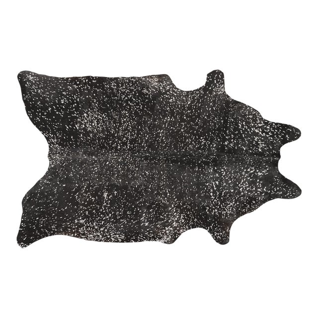 Black + Silver Genuine Brazilian Cowhide For Sale