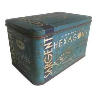 "Vintage 1930's ""Sargent Dustless Blackboard Crayons Brooklyn Ny"" Tin Box For Sale"