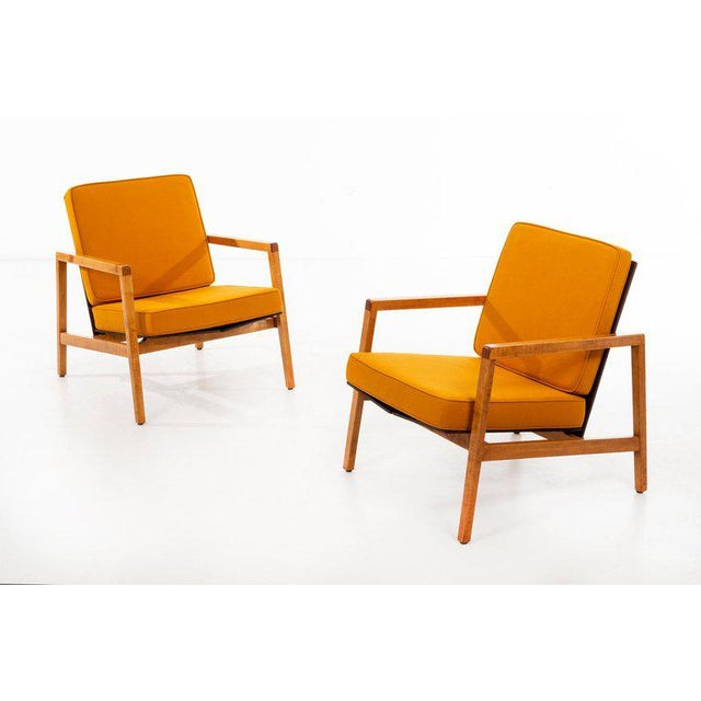Orange Lewis Butler Pair of Arm Chairs For Sale - Image 8 of 10