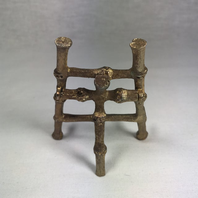 Gold Tone Bamboo Easel - Image 5 of 6