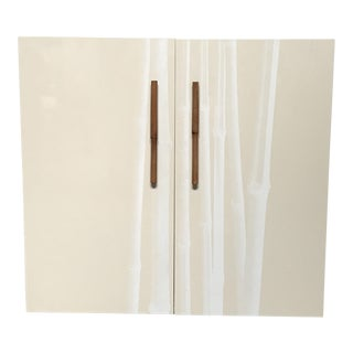 Bontempi Lacquered Cabinet With Bamboo Handles