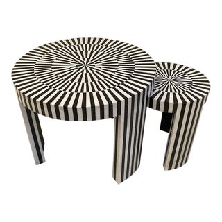 Made Goods Carlotta Marble Nesting Tables - Set of 2 For Sale