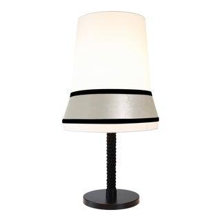 Contardi Audrey TA Large Table Lamp W/ Black Satin Trim For Sale
