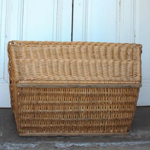 Vintage French Laundry Basket - Image 4 of 8