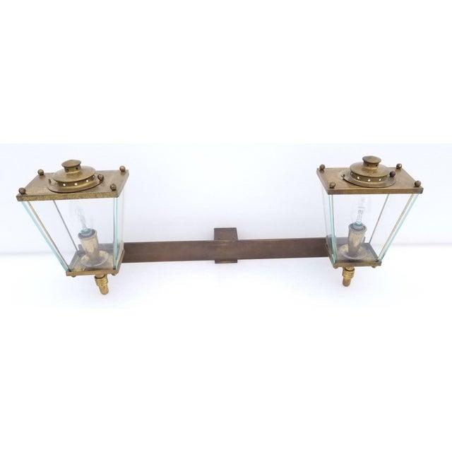 Large French Bronze 2 Lights Sconce Circa 1950's 40 watts max Bulb , Nice Warm Bronze patina