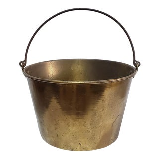 19th Century Brass Kettle/ Planter by the American Brass Kettle Manufacturers For Sale