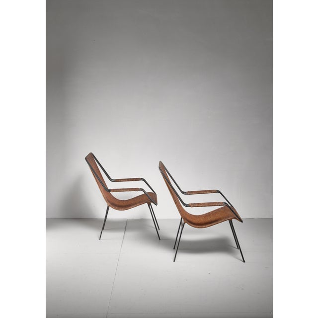 Forma Brazil Carlo Hauner and Martin Eisler Pair of Lounge Chairs, Brazil For Sale - Image 4 of 6