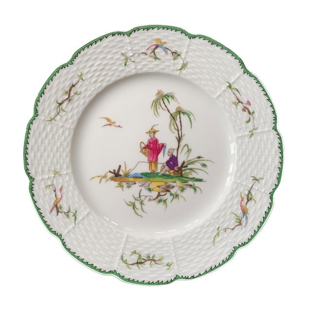 """Raynaud Chinoiserie Dessert Plates in """"Si Kiang"""" Pattern - Set of 5 For Sale In Atlanta - Image 6 of 10"""