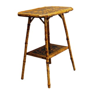 1890s Bamboo Two-Tier Side Table