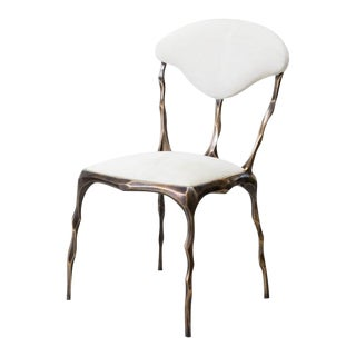 Markus Haase, Faceted Bronze Patina Dining Chair, Usa, 2018 For Sale