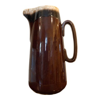 Final Price! Vintage Usa Brown Drip Pitcher For Sale